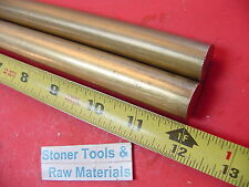 """2 Pieces 3/4"""" C360 BRASS SOLID ROUND ROD 12"""" long Lathe Bar Stock .750"""" OD H02"""