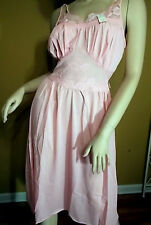 Vintage Luscious Lacy Lorraine Pink Rose Gown Sz 36 NWT NOS