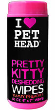 Pet Head Pretty Kitty Deshedding Toallitas 50 Toallitas, Toallitas Para Gatos, Piña Yummy