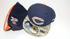 NWT NEW ERA HAT CAP FITTED 59FIFTY NFL CHICAGO BEARS SIZE 7 1/8 NAVY