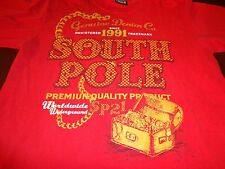 Red South Pole T Shirt Large  Genuine Denim Co. Since 1991 Treasure Chest  N5