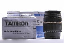 Tamron LD A014 18-200mm f/3.5-6.3 Di-II XR Aspherical AF IF Lens For For...