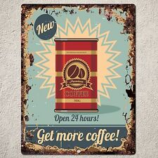 PP0024 Vintage Coffee Sign Rustic Parking Plate Home Restaurant Cafe Gift Decor