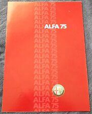 Alfa Romeo 75 Prospekt Brochure Depliant 1985 Deutsch no book buch press
