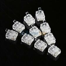 100PCS 4 Pin RJ11 RJ-11 6P4C Modular Telephone Phone Crystal Plug Connector #3YE