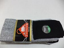 New Men'S Heavy Duty Thermal Boot Socks 6 Pk size 10-15 Colors Black, & Gray