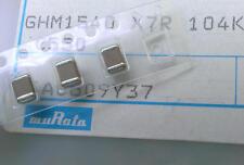 10 unidades, 100nf/630v SMD Murata cerámica condensadores size 1812 (m1586)