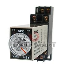 OMRON NEW H3Y-2 AC220V 5S PLC (AB8) DPDT 5 SECONDS TERMINAL TIMER TIME RELAY