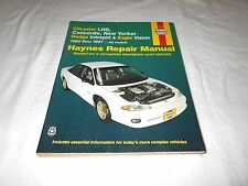 1993-1997 CHRYSLER LHS, CONCORDE & DODGE INTREPID ALL MODELS REPAIR MANUAL