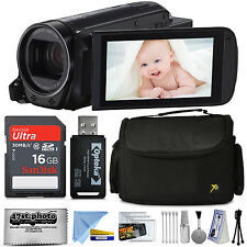 Canon VIXIA HF R700 HD Camcorder Video Camera (Black) + Accessories Kit Bun