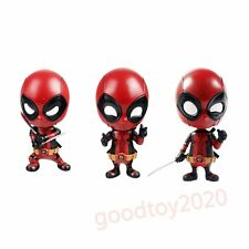 "Lot of 3pcs Marvel Deadpool Cosbaby Bobble-Head 4"" Hot Toys Figure No Box"