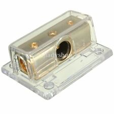 Car Audio Stereo 2-Way Solid Cable Power Distribution Block Splitter Gold-Plated