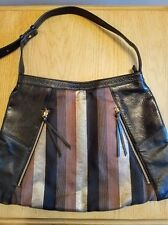 BODHI Bag Black Leather w/ Gold/Bronze inserts Hand-crafted by Chinese Artisans