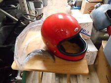 NOS Buco Vintage Fiber Cafe Visor Solid Red Large Full Face Helmet 1793-3