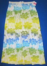 FRESH PRODUCE Large WHITE Spring Fling Cotton Adrift MAXI Skirt NWT New L