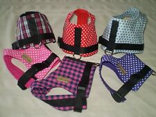 Dog Coats: Yuppy Yaps Harness Chihuahua size XXS assorted colours