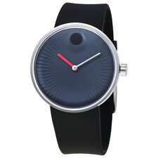 Movado Edge Blue Dial Silicone Mens Watch 3680004