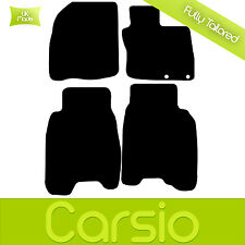 Black Tailored Car Floor Mats For Honda Civic FN2 2006 - 2008 4 Piece Carpet Set