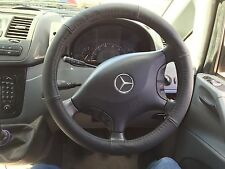 //FOR MERCEDES VITO /SPRINTER 2003-2015 REAL LEATHER STEERING WHEEL COVER//