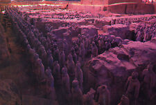 OLD POSTCARD - Museum of Qin Terra-cotta - The Great Hall - Vault 1