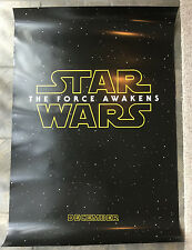 STAR WARS The Force Awakens DS Advance Teaser Theatrical Poster 27X40 Authentic