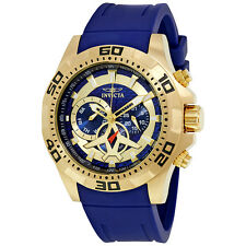 Invicta Aviator Multi-Function Blue Carbon Fiber Dial Mens Watch 21737