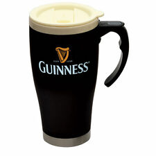 Guinness Thermal Travel Mug Large Cream Top Gold Harp Original Designs New