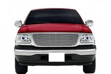 FITS FORD F150 1999-2003 ABS CHROME HORIZONTAL STYLE FULL REPLACEMENT GRILLE