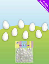 36 Mini Polystyrene Foam Easter Eggs 25mm Paint Art Craft Bonnet Hunt Game 06343