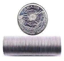 2015 Canada POPPY 25 cents One Roll of 40 COINS   Non - Colorized