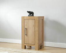 SOLID WOOD CHUNKY OAK ONE DOOR CUPBOARD CABINET