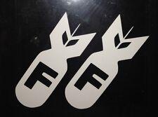 2X-F Bomb CAR Sticker Decal Vinyl WINDOW Fatlace HONDA JDM ill Drift FUNNY EURO