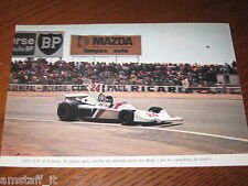 (244)=G.P. F.1 FRANCIA 1975 JAMES HUNT HESKETH-FORD=RITAGLIO=CLIPPING=FOTO=