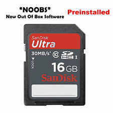 16GB SD SDHC Class10 Card with NOOBS for Raspberry Pi Preinstalled