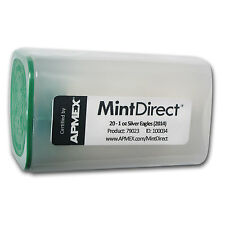 2014 1 oz Silver American Eagle Coins - 20 Coin MintDirect® Tube - SKU #79023