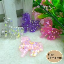 20pcs Kawaii Unicorn  Flatback Resin Cabochon crafts for  diy decoration
