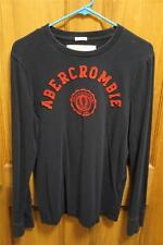 Abercrombie & Fitch Men's Large Navy Long Sleeve T-Shirt