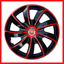 "4 x15"" Wheel trims Wheel covers for Fiat 500  Fiat Punto   black / red"