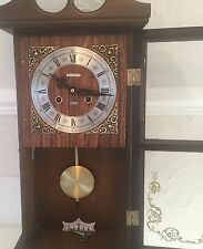 Talisman 8 Day Pendulum Wall Clock With Chimes On The Hour And Half Hour