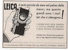 Pubblicità epoca vintage 1937 LEICA FOTO PHOTO advert werbung publicitè reklame