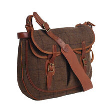 Ralph Lauren RRL Brown Tweed Leather Moray Messenger Bag New $495