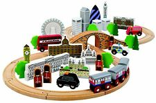 New John Crane Tidlo City of London Wooden Train Set Classic Children's Toys