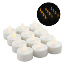 12 LED Tea Lights Votives Battery Operated Flameless Flickering Orange Candles