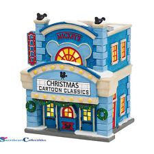 Dept 56 Disney Christmas Village 'Mickeys Cinema Lighted Bldg 4038630