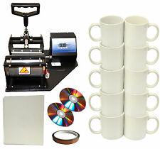 New Mug/Cup Heat Press,Heat Transfer Paper,Tape,DIY Sublimation Coffee Mugs,110V