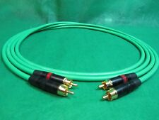 3 Ft Pair Canare L4E6S Green Star Quad RCA to RCA HIFI Audio Cable.