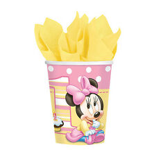 Disney Baby MINNIE MOUSE Hot Cold CUPS 1st Birthday Party Supplies Tableware