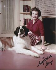 BETTY WHITE signed autographed w/ STORMY THE DOG photo