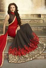 Bollywood Party Wear Saree Designer Red Wedding Saree Indian Pakistani Sari