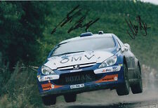 Manfred Stohl and Ilka Minor Hand Signed 12x8 Photo Citroen Xsara Rally 2.